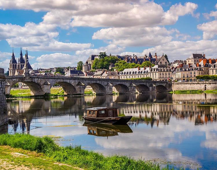 Vue panoramique de la ville de Blois